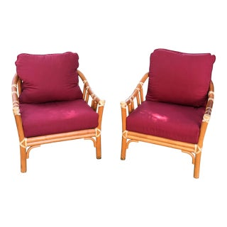 Mid-Century Modern McGuire Hollywood Regency Chairs- A Pair For Sale