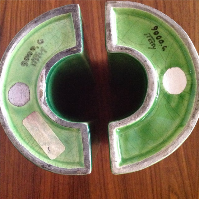 Raymor Green Ceramic Bookends - A Pair - Image 8 of 8