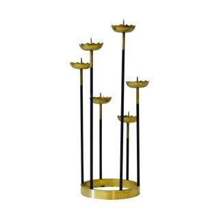 Mid-Century Brass Candelabra For Sale