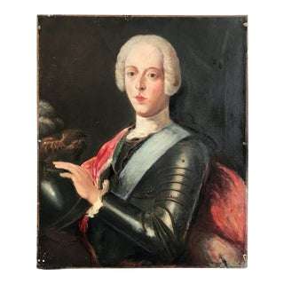 """18th C French Portrait """"Royal Young Man"""" Labeled by Jean Marc Nattier For Sale"""