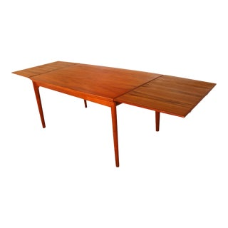 Vintage Danish Teak Extendable Dining Table For Sale