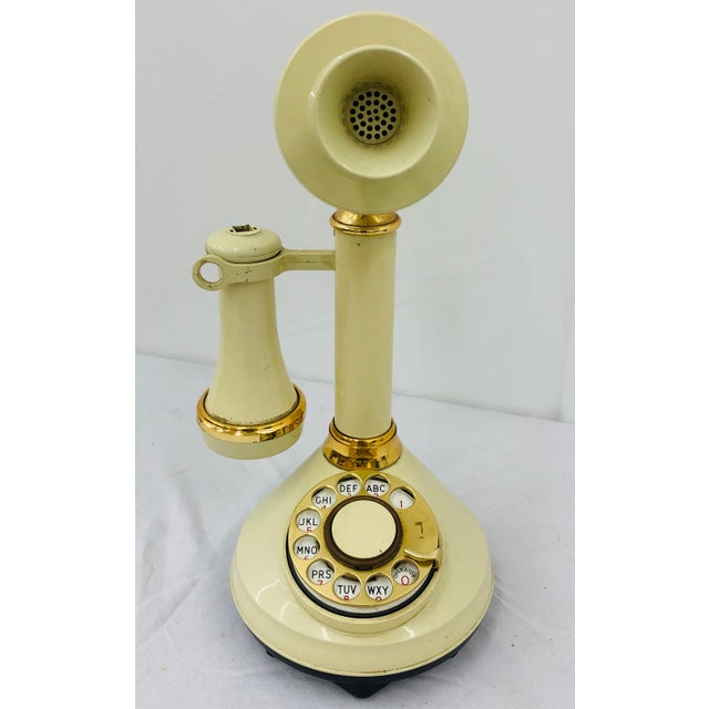 Vintage Hollywood Regency Style Rotary Telephone For Sale - Image 9 of 9