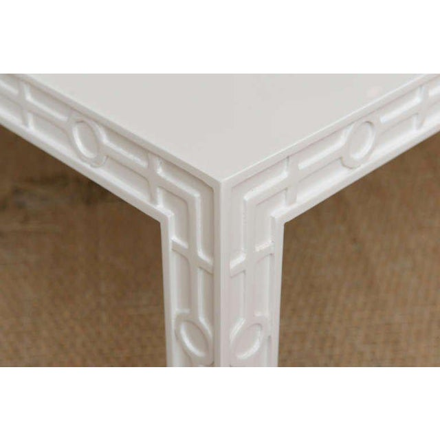 1970s Modern White Lacquered Graphic and Sculptural Side Tables - a Pair For Sale - Image 5 of 10