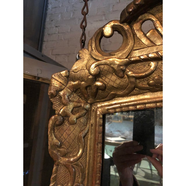 18th Century Mirror, Régence Giltwood For Sale - Image 9 of 12