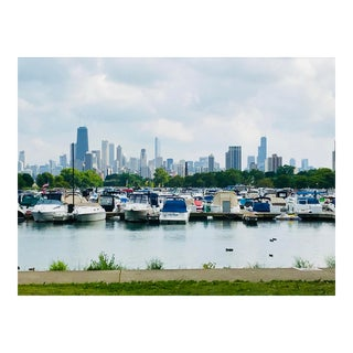 Josh Moulton Contemporary Diversey Harbor Skyline Photograph For Sale