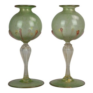 1920s Victorio Zecchin Two Venitian Vases - a Pair For Sale