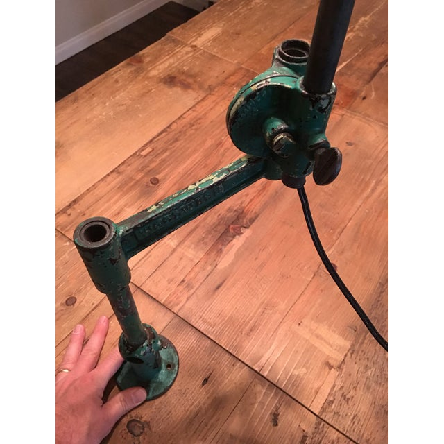 Woodward Machine Co. Industrial Task Lamp For Sale - Image 10 of 11