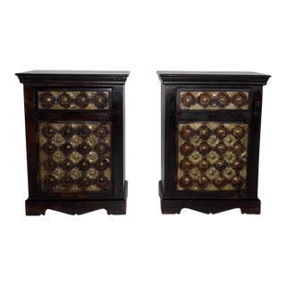 Indian Handmade Nightstands - A Pair
