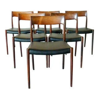1950s Niels Møller 'Model 77' Dining Chair - Set of 6 For Sale