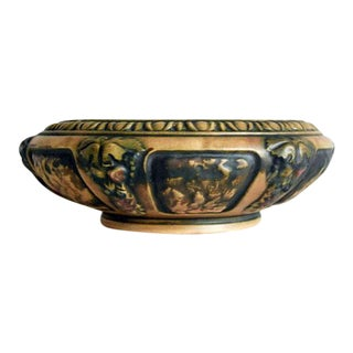 1920s Roseville Pottery Brown Florentine Bowl