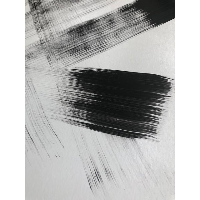 Abstract Black & White Modern Abstract Painting by Tony Curry For Sale - Image 3 of 3