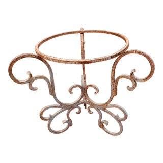 1930s French Wrought Iron Table Base For Sale