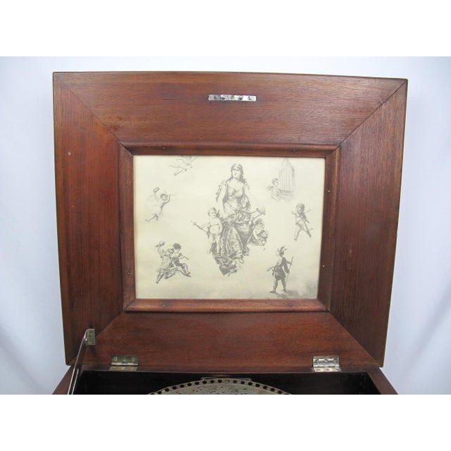 Early 20th Century Antique Regina Double Comb Music Box For Sale - Image 10 of 13