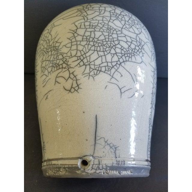 Les Mitchell Raku Vase For Sale - Image 4 of 7