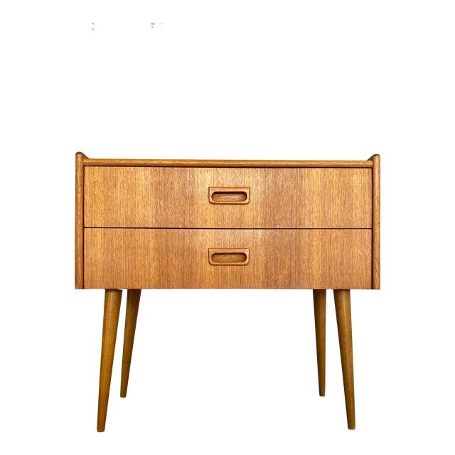 1960s Vintage Scandinavian Mid Century Teak Lowboy For Sale