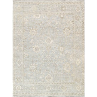 Pasargad Oushak Collection Lamb's Wool Area Rug - 6′ × 9′3″ For Sale