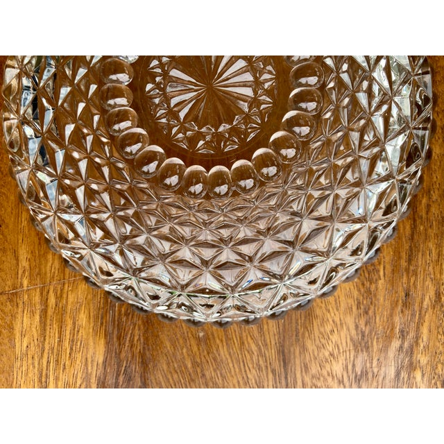 Vintage Textured Glass Catchall Dish For Sale - Image 4 of 11