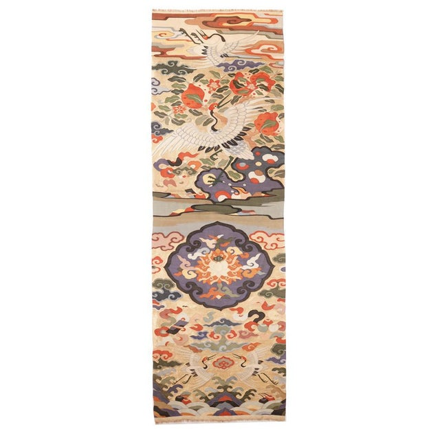 Antique Chinese Kesi Silk Tapestry Weave Chair Cover Panel Fabric For Sale - Image 13 of 13