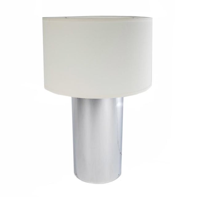 Contemporary 1970's vintage GEORGE KOVACS CHROME CYLINDER LAMPS- a pair For Sale - Image 3 of 9