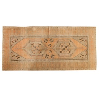 "Vintage Distressed Oushak Rug Runner - 4'11"" X 10'5"" For Sale"