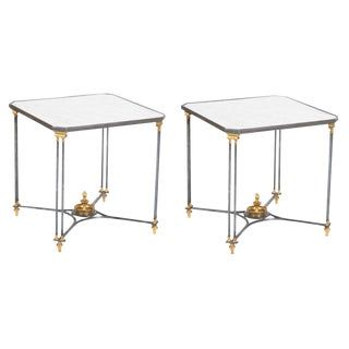 French Directoire Bronze Side Tables-a Pair For Sale