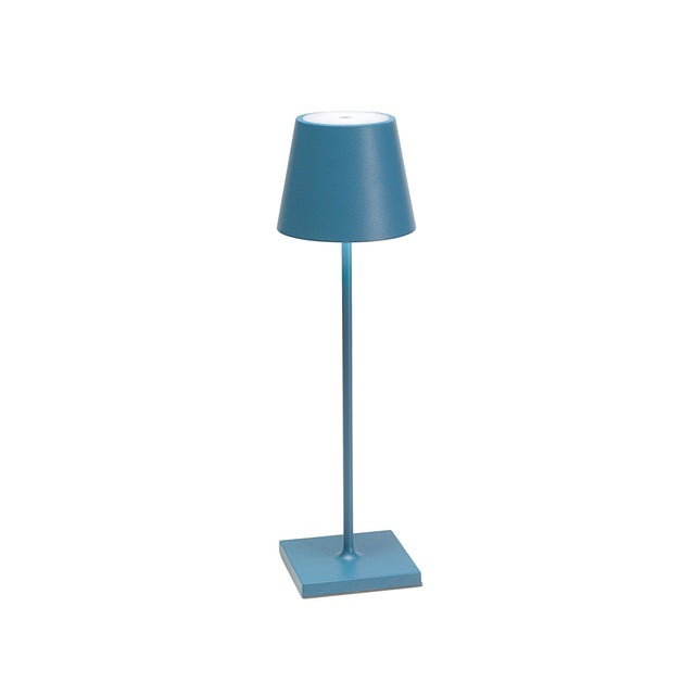 Modern Zafferano Blue Rechargeable Indoor/Outdoor Cordless Table Lamp For Sale - Image 3 of 3