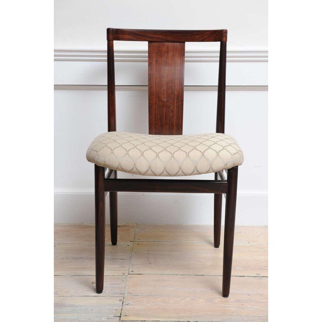 Mid-Century Modern Rosewood Mid-Century Modern Side Chairs With Upholstered Seat - a Pair For Sale - Image 3 of 10