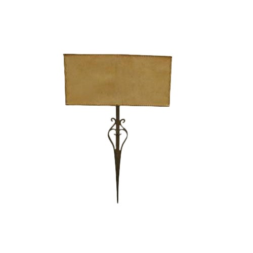 18th Century Iron Fragment Made Into Sconce For Sale