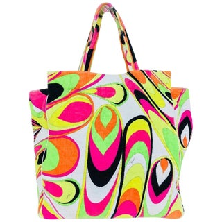 Pucci Velvet Terry Beach Tote and Matching Beach Towel For Sale