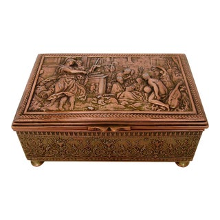 Vintage Repoussé Box For Sale