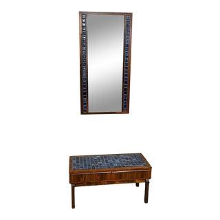 Danish Modern Rosewood Tile Top Vanity For Sale