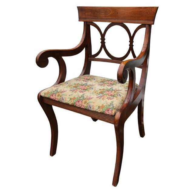 Country Antique Tell City Chair Co. Mahogany Country Dining Chairs - Set of 6 For Sale - Image 3 of 10