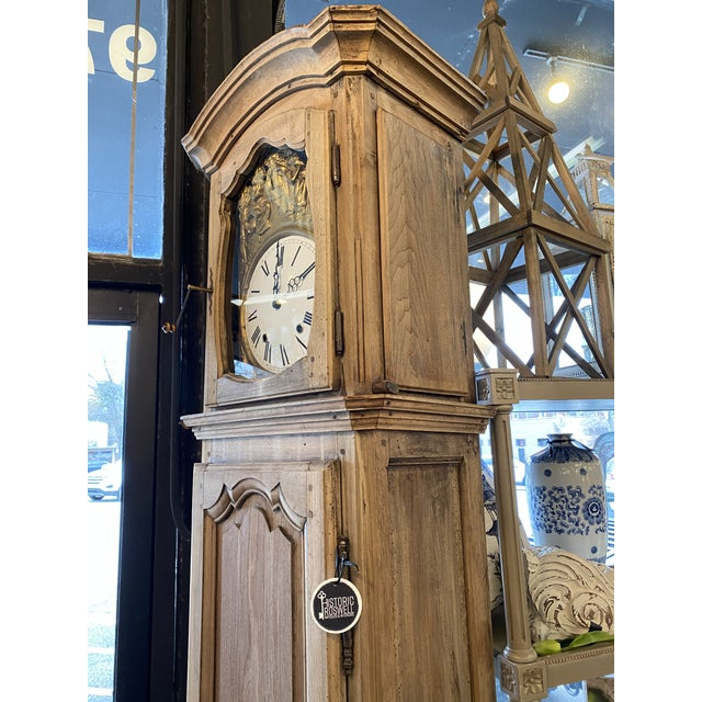 1830 French Provincial Grandfather Clock For Sale - Image 4 of 8