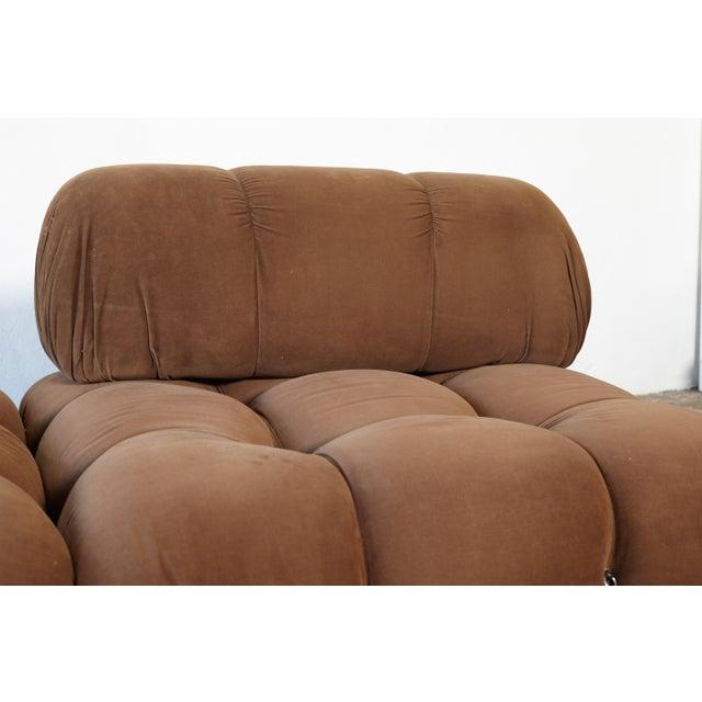 "Brown 1970s Vintage Mario Bellini for B&b Italia ""Camaleonda"" Modular Sofa For Sale - Image 8 of 10"