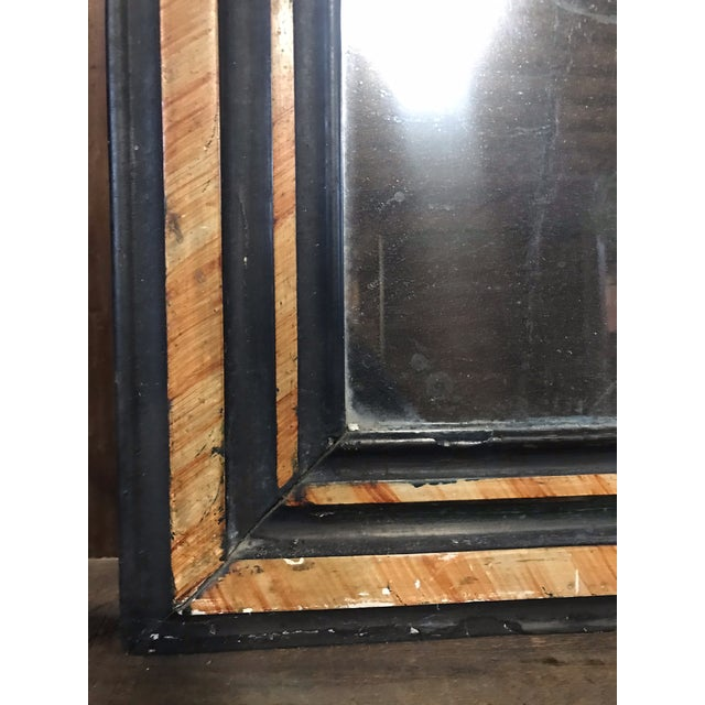 Tan French Faux Painted Mirror With Original Glass For Sale - Image 8 of 10