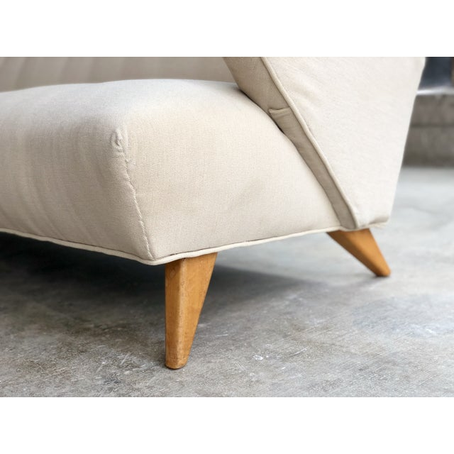 1950s Jens Risom for Knoll Sofa - Mid Century Modern Danish Design Button Tufted Couch For Sale - Image 5 of 10
