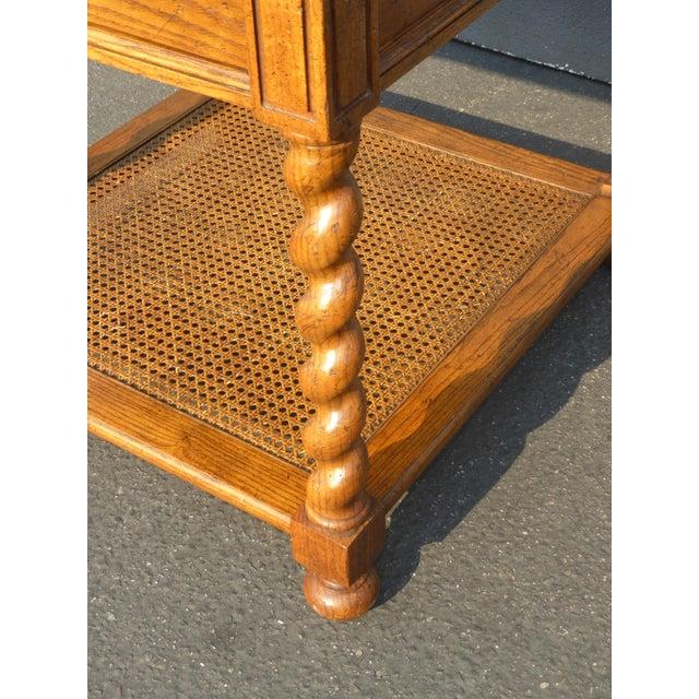Baker Furniture Barley Twist Cane Shelf End Table ~ Side Table For Sale - Image 12 of 13