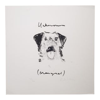Signed Limited Edition Lithograph of a Dog-Unframed For Sale