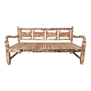 Antique Vintage Provincial Daybed - Eco-Friendly Reclaimed Solid Wood For Sale