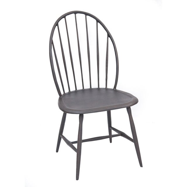 American Windsor Armless Outdoor Chair in Black For Sale - Image 3 of 3