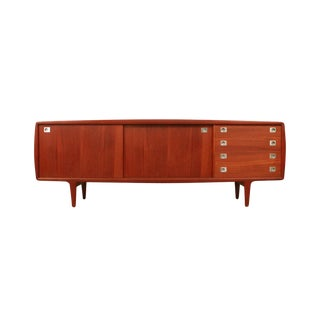 Mid-Century Modern Teak Credenza Cabinet by H.P. Hansen For Sale
