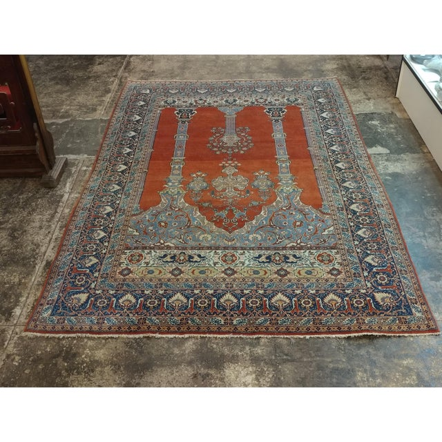 Antique Hand Made Persian Mashhad Rug - 4′4″ × 7′ For Sale - Image 10 of 10
