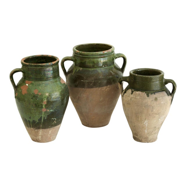 Antique Turkish Oil Pots- Set of 3 - Image 1 of 11