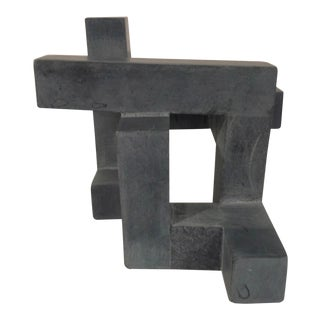2000's Industrial Concrete Abstract Geometric Sculpture For Sale