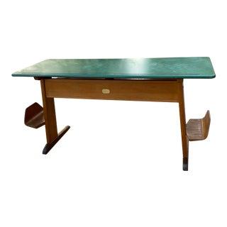 Danish Children's Teak School Desk, Seats 2 Glostrup Mobelfabrik Denmark 1960s For Sale