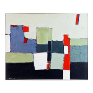 'The Docks' Contemporary American Abstract Painting by Lars Hegelund