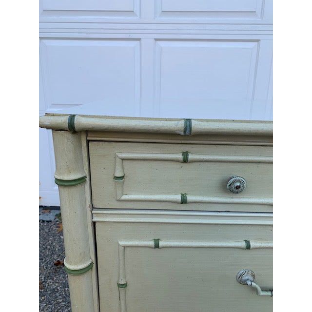 Hollywood Regency 1970s Faux Bamboo Allegro by Thomasville Dresser For Sale - Image 3 of 11