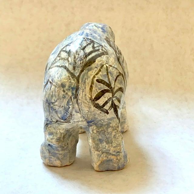 "Blue Vintage Mid-Century ""William the Faience Hippopotamus"" Figurine For Sale - Image 8 of 13"