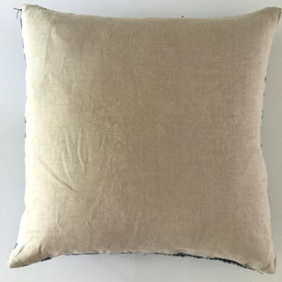 Vintage African Mudcloth Indigo Pillow Cover For Sale - Image 5 of 5