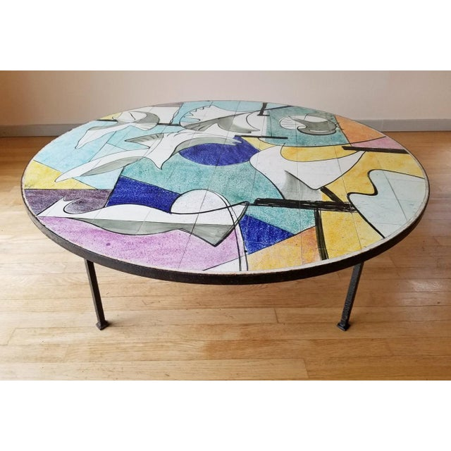 Mid 20th Century Ceramic Tile Coffee Table For Sale - Image 9 of 9